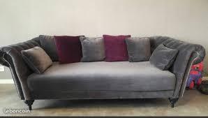 canapé velours gris achetez canapé chester 3 quasi neuf annonce vente à alençon 61