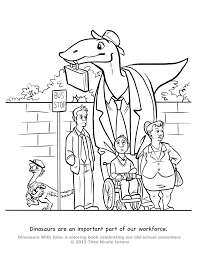 Dinosaurs With Jobs Free Coloring Pages Art Giveaway