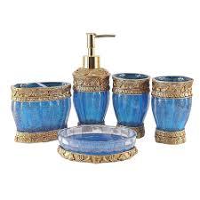aliexpress com buy gold blue red 5 pcs bathroom set resin