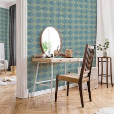 livingwalls vliestapete new walls tapete finca home in fliesen optik blau grün grau