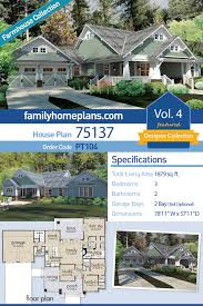 100 Family Guy House Layout Craftsman Style Plan 75137 With 3 Bed 2 Bath 2 Car Garage