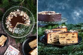 schoko orangen baumkuchen mit kakaosplittern schoko stückchen