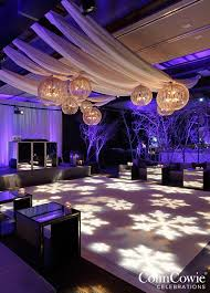 Snowlakes Projected To The Dance Floor Take A Look At This Winter Wonderland Utah Wedding