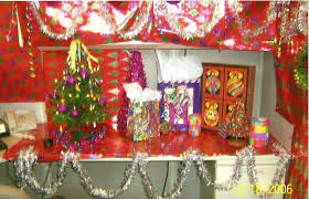 Christmas Cubicle Decorating Contest Flyer by The Tote Trove Bigger Is Better And Gaudy Is Good