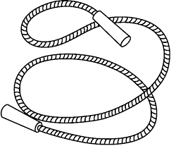 Black & White clipart rope Pencil and in color black & white