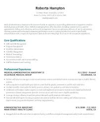 Resume Sample For Administrative Assistant Chronological
