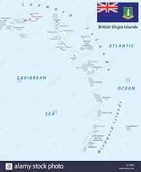 Lesser Antilles Outline Map With British Virgin Islands