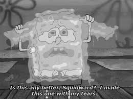 Spongebob Cries Image Tumblr Gemini Dragon Gifs