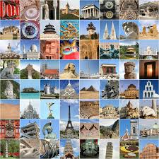 Download World Famous Landmark Collage Stock Photo