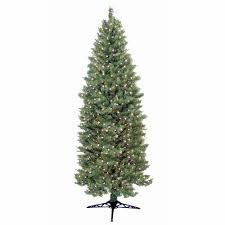 Slim Pre Lit Christmas Trees by General Foam 9 Ft Pre Lit Slender Spruce Artificial Christmas