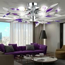 büromöbel led blüten decken leuchte chrom geäst design