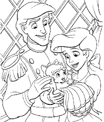 Princess Prince And A Baby Coloring Pages Gianfreda Net
