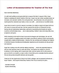 Sample Letters of Re mendation for a Teacher 9 Examples in Word