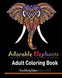 Adorable Elephant Stress Relieving Designs For Adult