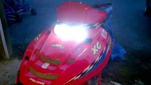 h4 led headlight in a snowmobile