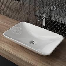aufsatzwaschbecken waschbecken keramik waschtisch in weiß