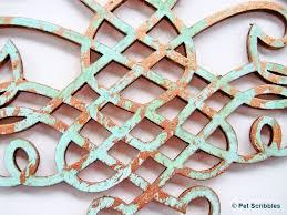 Laser Cut Wood Wall Decor Ornaments From Michaels DIY Faux Metal Art