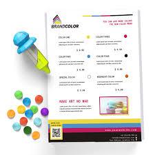 Colors Print Menu Template Design Shock