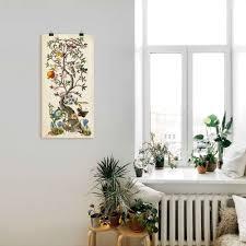 artland wandbild chinoiserie natur i pflanzen 1 st in vielen größen produktarten alubild outdoorbild für den außenbereich leinwandbild