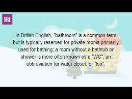 Synonyms For Bathroom Loo by What Is A Room With A Toilet Called Youtube