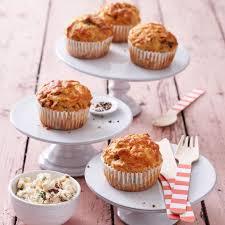 herzhafte muffins mit schafskäse creme