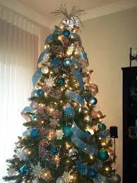Christmas Tree Ribbon Decor Blue AK Love