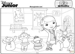 Great Doc Mcstuffins Coloring At Stretching With Page Inside Printable Colouring Pages
