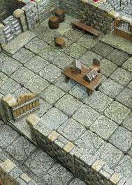 3d Printed Dungeon Tiles by Miniature Terrain Games Tiles U2013 Unpainted Or Beautifully Hand Painted