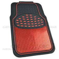 Metallic Rubber Floor Mats Red For Car SUV Truck Black Trim To Fit ... Floor Liners Mats Nelson Truck Uncategorized Autozone Thrilling Jeep Car Guidepecheaveyroncom Metallic Rubber Pink For Suv Black Trim To Motor Trend Hd Ecofree Van W Cargo Liner Gmc Sierra Ebay Amazoncom Weathertech Custom Fit Rear Floorliner Ford F250 Antique From Walmarttruck Made Bdk 1piece Ridged And