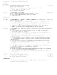Sample Business School Resume Example Banking Examples Investment