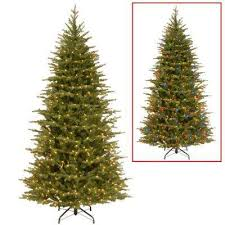 75 Ft Nordic Spruce Slim Artificial Christmas Tree With Dual Color LED Lights