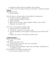 Certified Professional Coder Resume Sample For Medical Writer