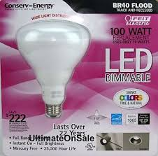 feit electric br40 led flood light bulb 100 watt equivalent 824096