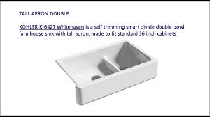 Kohler Whitehaven 36 Apron Sink by 36 Inch Cast Iron Farmhouse Sink Some Models At A Glance Youtube