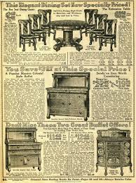 100 Sears Dining Table And Chairs HOUSEHOLD FURNITURE 1914 Household Catalog Dining Room
