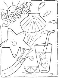 Coloring Pages For Summer Beach Sheets Kids Free Printable Ideas Pictures Full Size