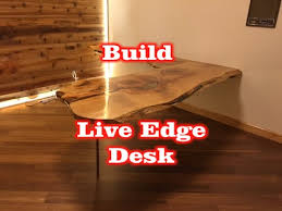 how to build a custom live edge wood office desk youtube