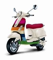 Motor Matic Vespa On Adhyaksa Kartika Sari Scooter