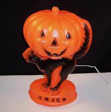 Vintage Halloween Blow Molds by Vintage Halloween Light Up Blow Mold Jack O Lantern Pumpkin