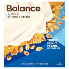 UPC 750049010446 Product Image For Balance Bar Yogurt Honey Peanut Nutrition Energy Bars