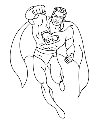 Precious Printable Color Pages For Kids Free Superman Coloring