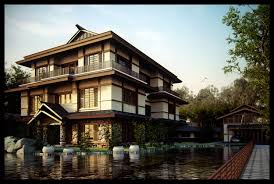 100 Japanese Modern House Design Exotic Combine River Stone Plus Wooden Materal As