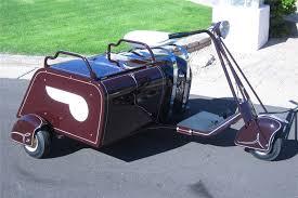 1939 SALSBURY MODEL 72 DELUXE MOTOR GLIDE W SIDECAR