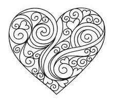 Fashionable Idea Heart Coloring Pages Printable