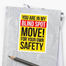 Truck Blind Spot Sticker