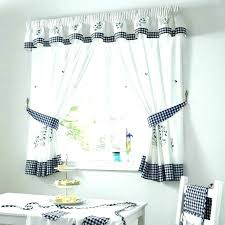 White Eyelet Kitchen Curtains by Gingham Blue Curtains Yellow Gingham Kitchen Curtains Full Image