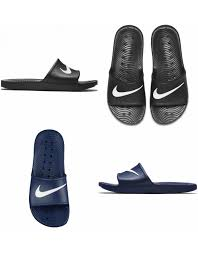 NIKE FLIP FLOPS Mens Womens Kawa Slides Beach Pool Sandals Slippers Black Navy