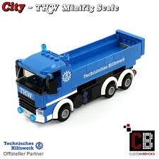 100 Lego Truck CUSTOM THW Truck With Tipper Made Of LEGO Bricks Markenwelt Voegele