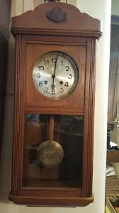 Lamps Plus Westminster Co by Vintage Light Oak German Westminster Chiming Wall Clock View