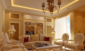 golden yellow living room with bright lighting and